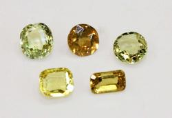 Natural Chrysoberyl - Lot of 5  - Over 3 Carats