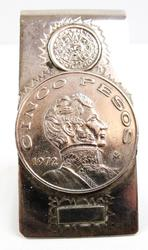 1972 Cinco Pesos Mexican Coin Money Clip