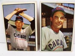 2 Chicago Cubs Early Bowman Baseball Cards