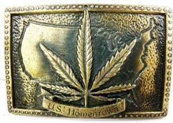US Homegrown Large Belt Buckle