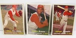 3 Cincinnati Redlegs 1957 Topps Baseball Cards