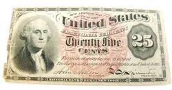1863 25 Cent Paper Bill