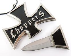 Men's Choppers Cross with Hidden Dagger