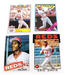 4 Eric Davis, Reds Topps Baseball Cards