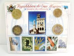 Republica Di San Marino 4 Coins & Stamps