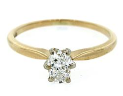 Fabulous Oval Cut Diamond Solitaire Ring