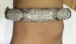 9+ Carat Diamond Bangle Bracelet in 14kt Gold