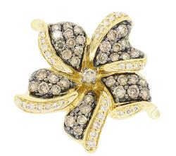 LeVian Flower Diamond Ring