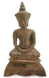 12th Century Statue of Cambodian Buddha Meditating