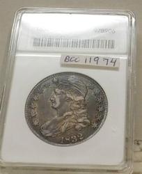 1832 Bust Half Dollar, ANACS XF-40, original