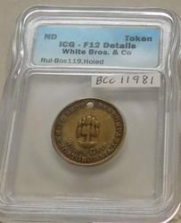 Token, White Brothers, ICG F-12, holed