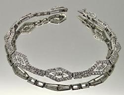 LADIES DIAMOND BRACELET, 14K