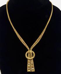 Unique Tri Color 18Kt Gold Necklace