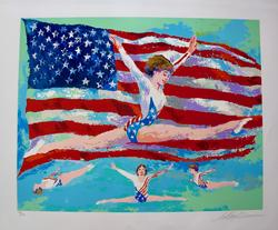 Leroy Neiman, Golden Girl Hand Signed Serigraph
