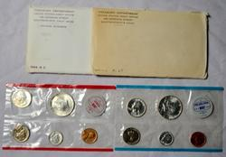 1963 and 1964 US Silver Mint Sets in original envelopes