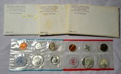 3 1964 US Silver Mint Sets