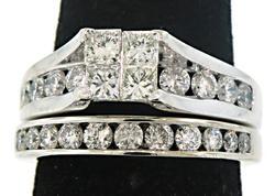 Classic Style Multi Diamond Bridal Set