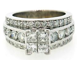 Grand Triple Row Multi Diamond Ring