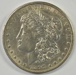Razor-sharp near BU 1897-O Morgan Silver Dollar