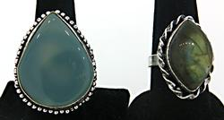 Group Lot of two Gemstone Rings