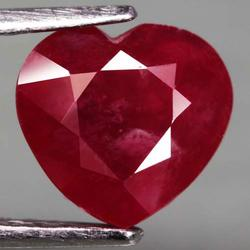 Simply lovely 5.02ct heart cut Ruby