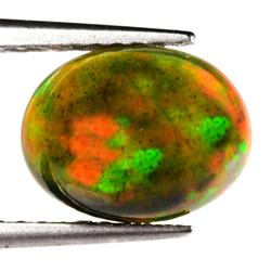 Top body color 1.50ct 3D flashing Black Opal
