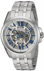 New Mens Bulova Skeleton Dial Automatic