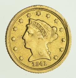 1841-C $2.50 Liberty Head Gold Quarter Eagle - Circulated
