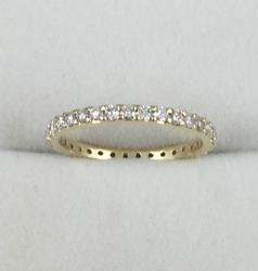 18kt Gold Diamond Band
