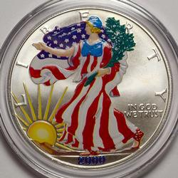 2000 Colorized American Silver Eagle