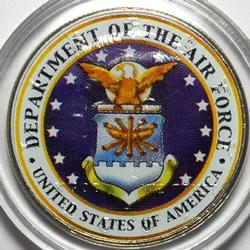 USAF Colorized Kennedy Half Dollar, 2001