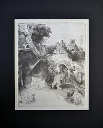 Collectible Vintage Rembrandt Etching Plate