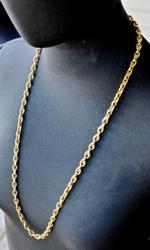 Stunning 30 Inch 14K Textured Necklace