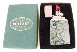 Vintage 1959 Roseart Marble Table Lighter MIB