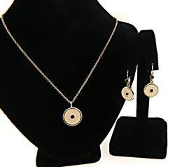 Pandora Enamel Necklace and Earring Set