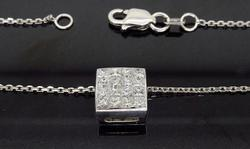 Stunning 18K White Gold Diamond Pendant