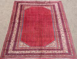 Amazingly Detailed Mid-20th C, Authentic Handmade Vintage Persian Rug