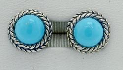 Traditional Style Stabilized Turquoise Earrings