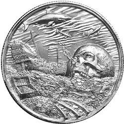 Elemetal Mint 2oz High Relief Silver Round Davy Jones