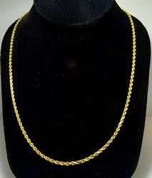 Big 24 inch 14kt Gold Rope Chain