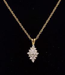 Great 0.25 CTW Diamond Cluster Pendant