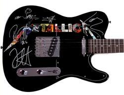 Metallica Facsimile Autographed Custom Graphics Guitar