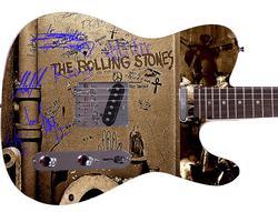 Rolling Stones Facsimile Autographed Custom Graphics Guitar