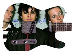 Green Day Facsimile Autographed Custom Graphics Guitar