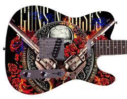 Guns n Roses Facsimile Autographed Custom Graphics Guitar