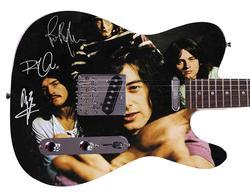 Led Zeppelin Facsimile Autographed Custom Graphics Guitar