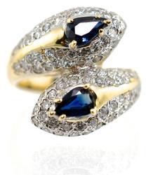 Lovely Vintage Sapphire & Diamond Ring
