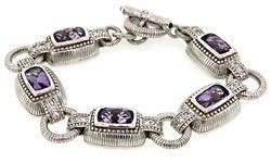 Judith Ripka Trendy Sterling Silver Bracelet