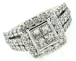 Dramatic Multi Diamond Ring