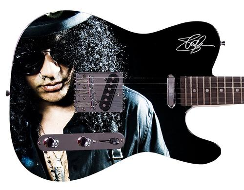 Guns N Roses Slash Facsimile Autographed Custom Graphics Guitar